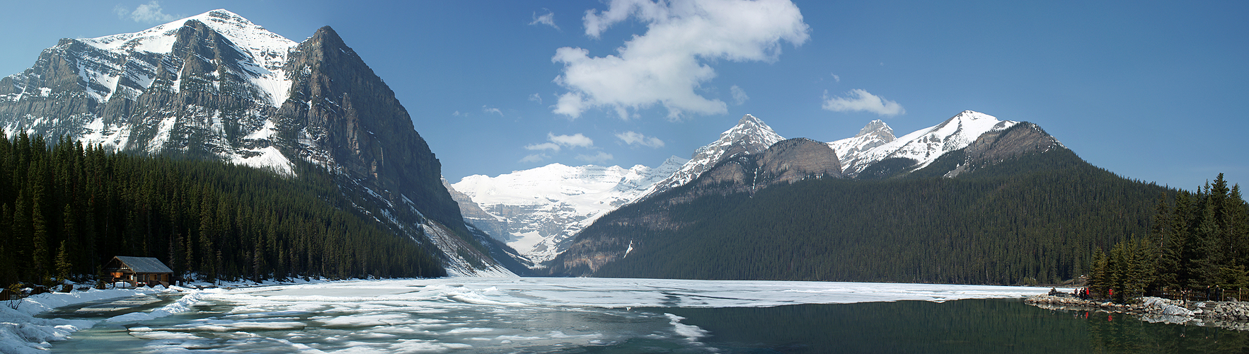 Photo panoramique du lac Louise (Banff)