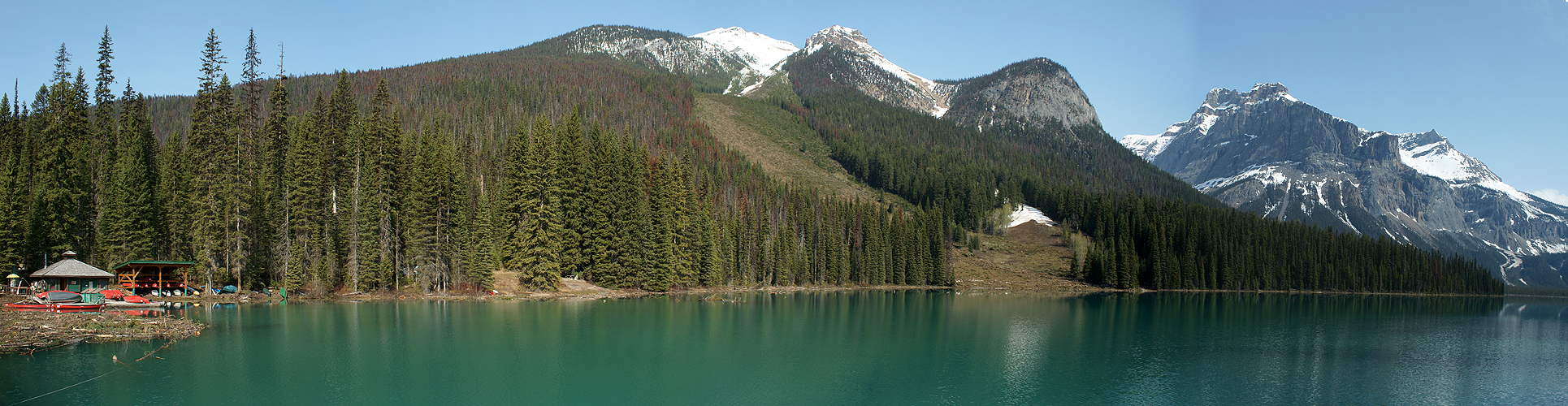 Photo panoramique du lac Emerald (Yoho)