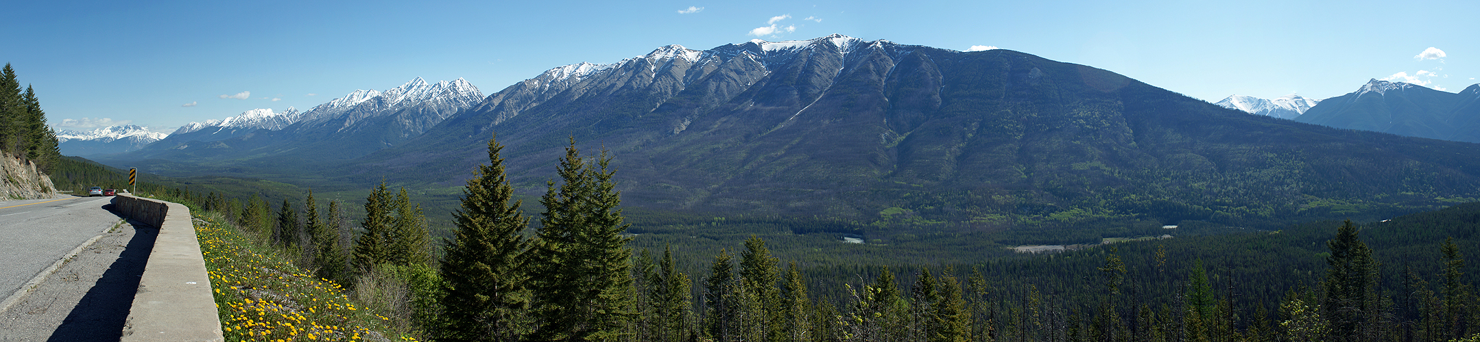 Photo panoramique de la vallée de la rivière Kootenay (Kootenay)