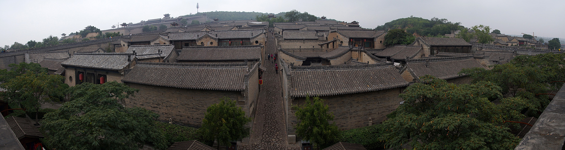 Photo panoramique de la résidence Wang (Pingyao)