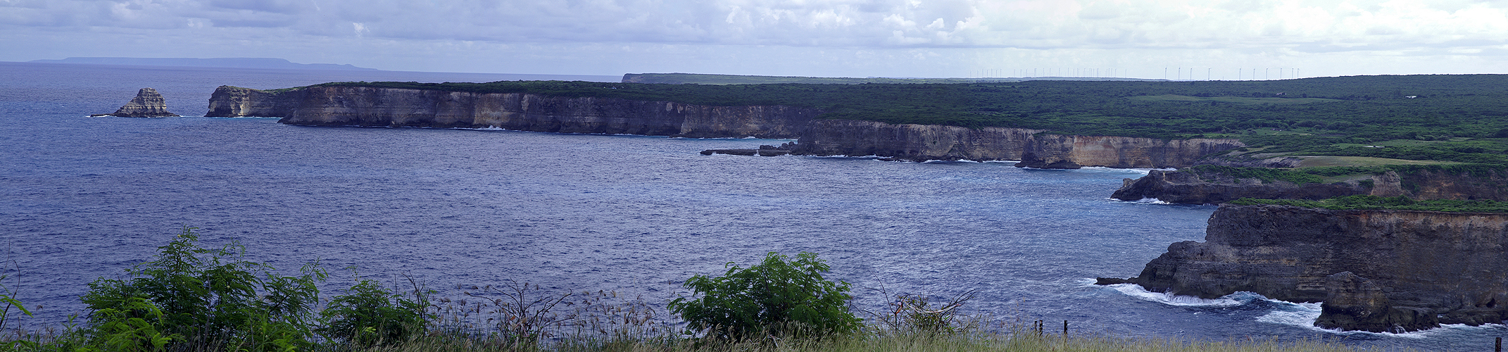 Photo panoramique de la pointe de la Grande Vigie