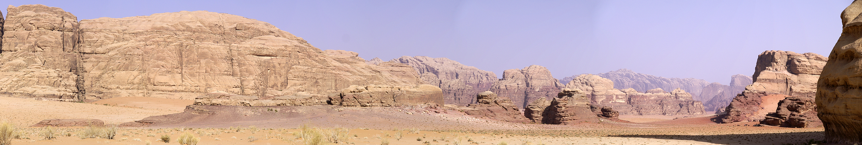Photo panoramique du Wadi Rum